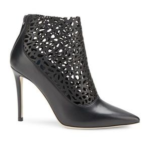 Jimmy Choo Point-Toe Leather Ankle Booties Size 39
